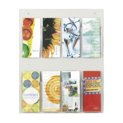 Economical Clear Plastic Eight Pocket Pamphlet Rack