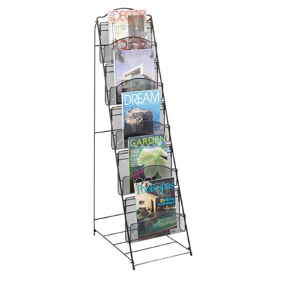 Five Pocket Mesh Magazine Rack