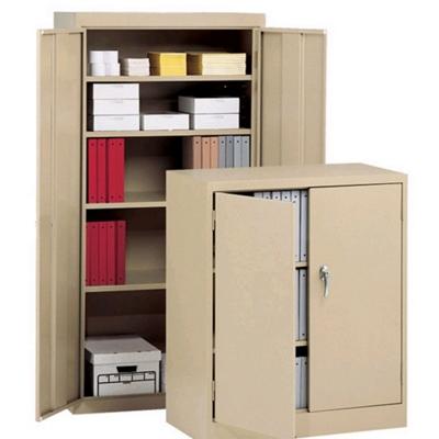 """Heavy-Duty Steel Storage Cabinet - 78""""H x 18""""D"""