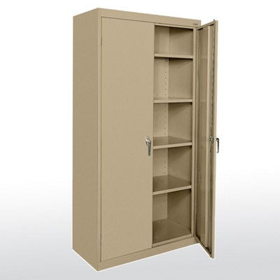 "Heavy-Duty Steel Storage Cabinet - 78""H x 18""D"