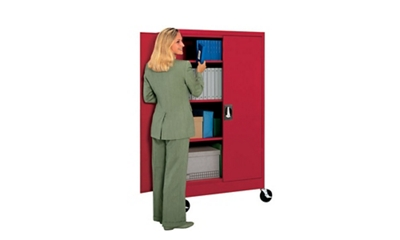 """Mobile Storage Cabinet 66"""" High x 46"""" Wide"""