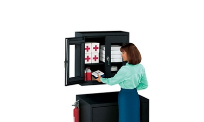 "Lockable Wall Mounted Cabinet - 30""W x 12""D"