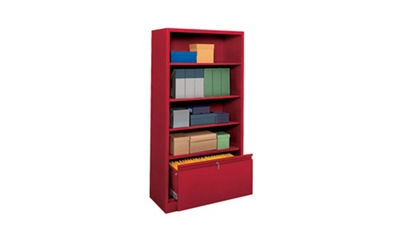"""Bookcase with File Drawer 72"""" High"""