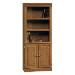 Five Shelf Bookcase with Lower Doors