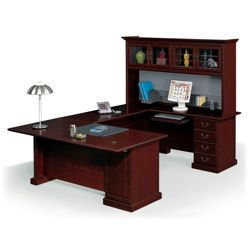 Executive U-Desk with Hutch