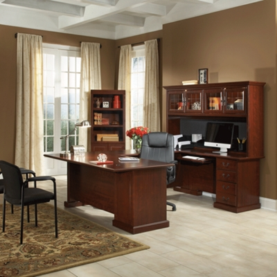 Heritage Hill U Desk And Bookcase Set By Sauder Office Furniture