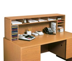 Woodgrain Desktop Organizer