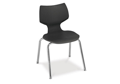 "18""H Sculpted-Back Student Stack Chair"