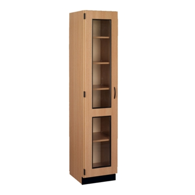 Left Hinged Glass Doored Storage Cabinet with Lock