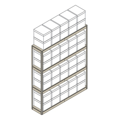 "Heavy-Duty Shelving Unit - 69""W x 15""D x 84""H"