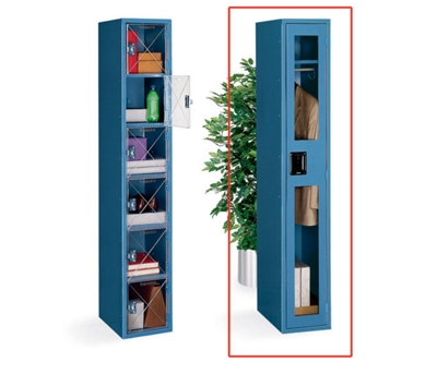 Single Tier Locker with C-Thru Door 3 Wide