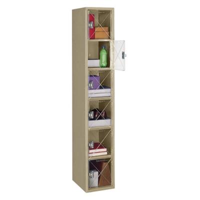 Six Tier Locker with See-Thru Doors