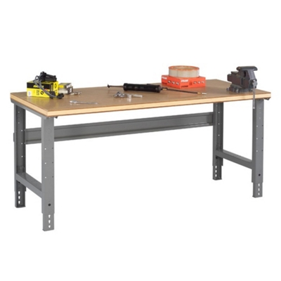 "Adjustable Height Compressed Wood Top Work Bench - 60"" x 30"""
