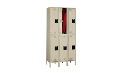 Double Tier Lockers 1 Wide With Legs