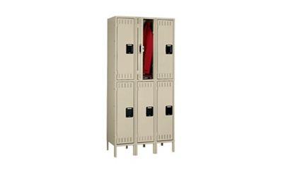 Double Tier Lockers 3 Wide With Legs