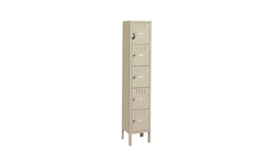 Five Tier Box Lockers 1 Wide With Legs