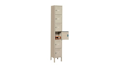 Six Tier Box Lockers 3 Wide With Legs