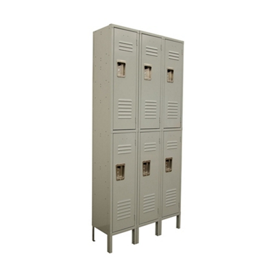 "Three Wide Two-Tier Locker - 45""W x 18""D x 78""H"