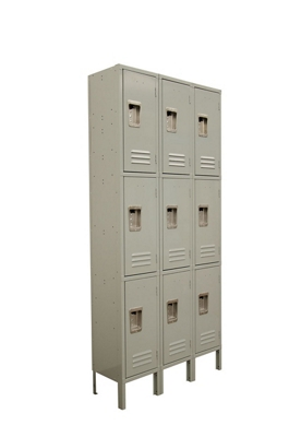 "Three Wide Three-Tier Locker - 36""W x 12""D x 78""H"