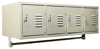"Wall-Mounted Four Locker Set - 45""W x 18""D"
