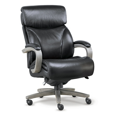 black and white office. c laz boy revere big and tall executive office chair in top grain leather