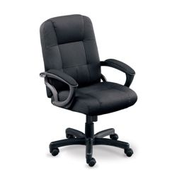 Stellar Fabric Mid-Back Chair with Memory Foam Seat