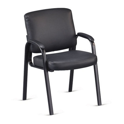 Austin Faux Leather Guest Chair with Padded Arms