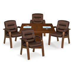 Stamford Wood Frame Guest Chair - Set of Four