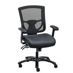 Overtime 24/7 Mesh-Back Chair with Leather Seat