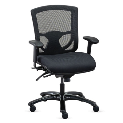 overtime 247 mesh back chair with fabric seat