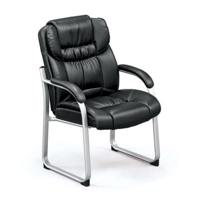 Black upholstery and Silver frame