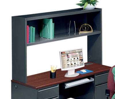 Steel Hutch with Bookshelves