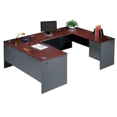 Steel U-Desk with Right Return
