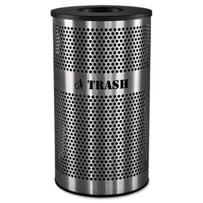 33 Gallon Stainless Steel Trash Receptacle