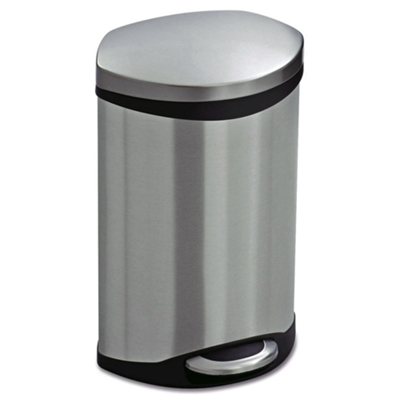 Stainless Steel Step-On Medical Waste Receptacle - 3 Gallon Capacity