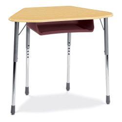 Adjustable Height Trapezoid Desk