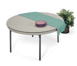 "Lightweight Round Folding Table - 72"" Diameter"