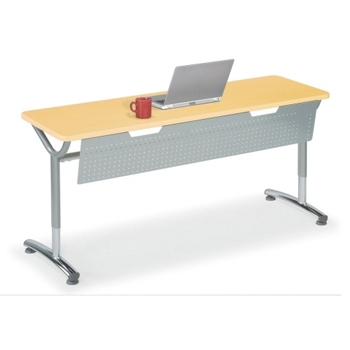 AdjustableHeight Training Table With Modesty Panel W X D - Adjustable height training table