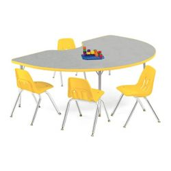 "Kidney Shaped Activity Table 72"" x 48"""
