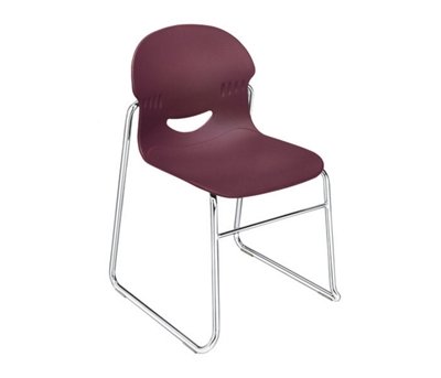Stack Chair with Sled Base