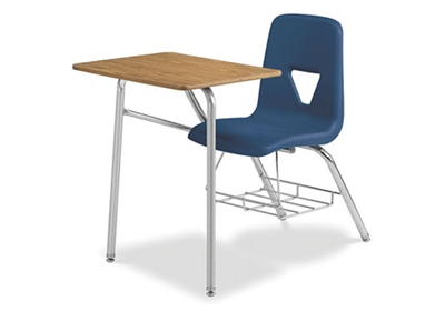 """Chair Desk Combo with Bookrack - 24""""W x 34""""D"""