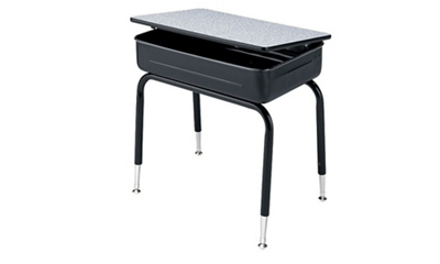Virco 751 Adjustable Height Student Desk with Lift Lid
