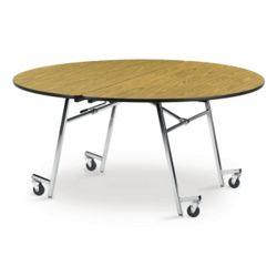 """Round Mobile Folding Table- 72""""Dia"""