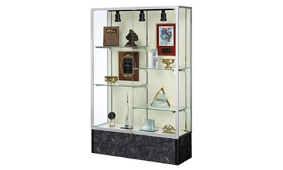 "48"" Wide Lighted Floor Display Case"