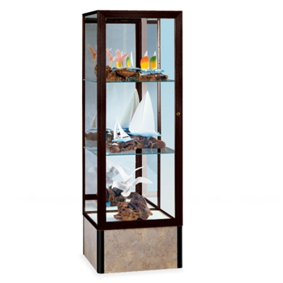"""24"""" Wide Unlighted Tower Display Case"""