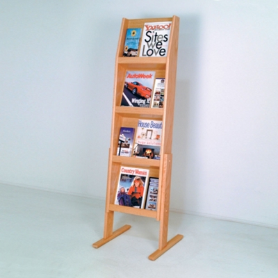 Floor Literature Rack with 12 Pockets