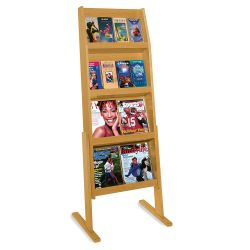 Literature Rack with 16 Pockets