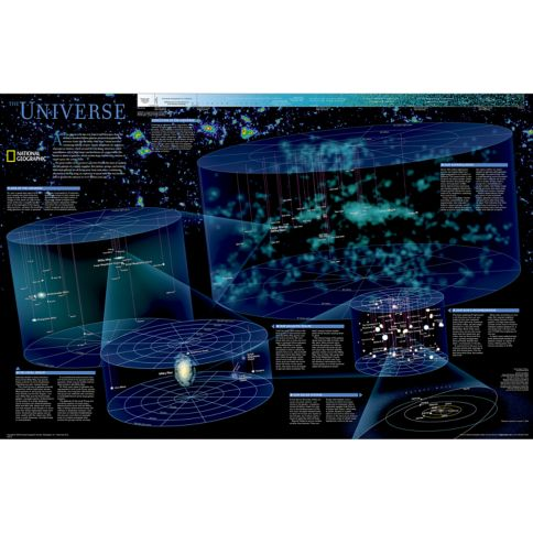 The Universe Wall Map National Geographic Store - Space map