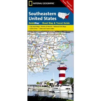 Southeastern USA Guide Map National Geographic Store - Road map southeast us