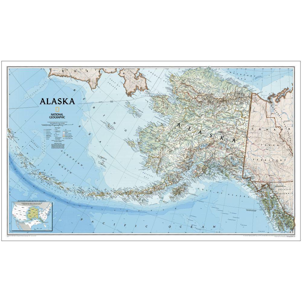 Alaska Political Map National Geographic Store - Political map of alaska